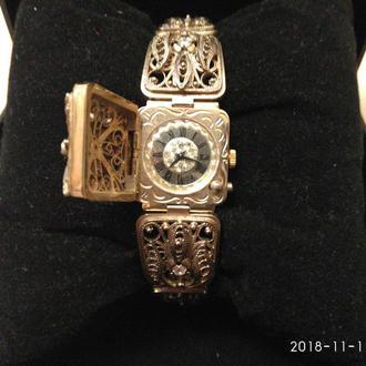 часы чайка позолота Au5 скань