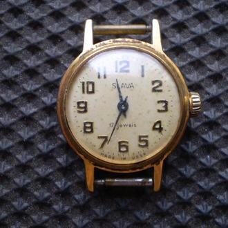 Часы Слава. Позолота.