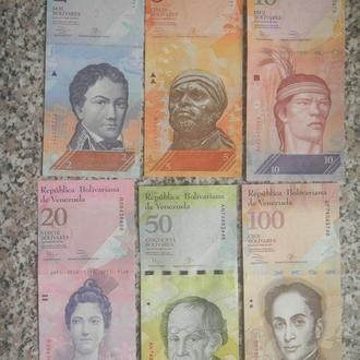 Венесуэла 2, 5, 10, 20, 50, 100 боливаров UNC