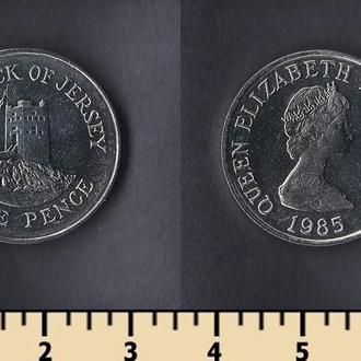 Джерси остров 5 пенсов 1985