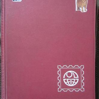 Кляссер альбом для марок бордо большой