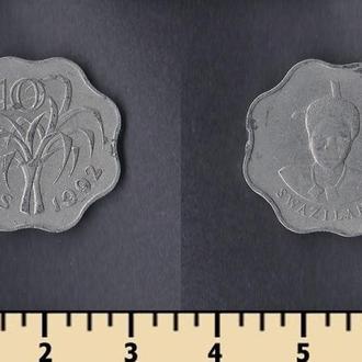 Свазиленд 10 центов 1992