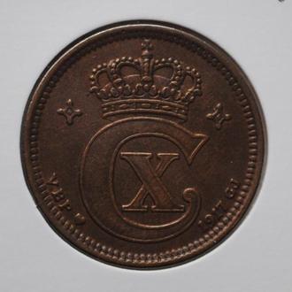 Дания 5 эре 1917 г., XF, 'Король Кристиан X (1912-1947)', РЕДКИЙ ГОД