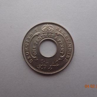 Британская Западная Африка 1/10 пенни 1935 George V СУПЕР состояние редкая