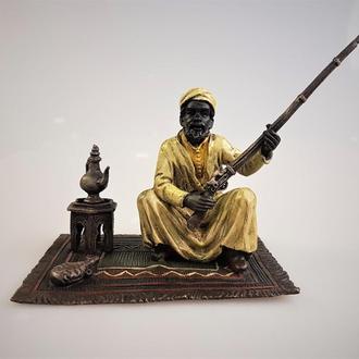 бронзовая статуэтка бедуин мукала цветная бронза