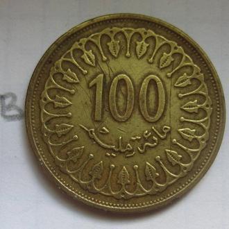 ТУНИС, 100 миллим 1996 г.