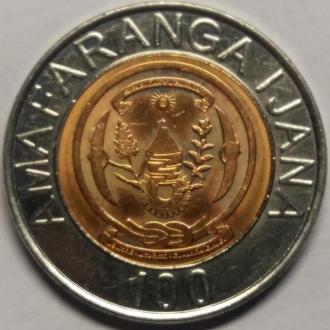 Руанда 100 франков 2007 год ОТЛИЧНАЯ!!!