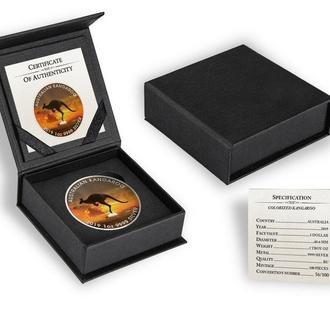 Кенгуру Special Edition Tираж 100шт Cереребряная монета 31,11 гр