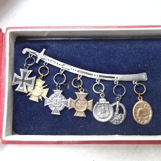 Комплект миниатюр медалей Третий Рейх. морской