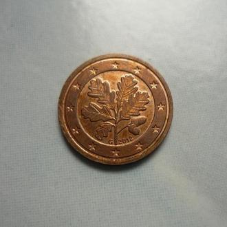 ФРГ 2 евроцента 2012 G флора