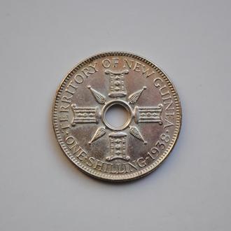 Новая Гвинея 1 шиллинг 1938 г., UNC, 'Мандатная территория (1929 - 1945)'