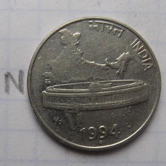 ИНДИЯ, 50 пайса 1994 г. (КАРТА ИНДИИ).