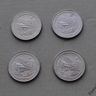 25 центов США Теннесси, Национальный парк Грейт Смоки Маунтинс 2014 г.