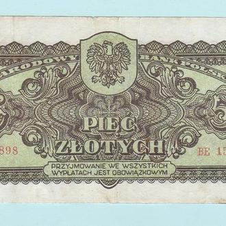 Польша 5 злотых 1944 советская оккупация obowiazkowym
