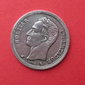 Венесуэла 1 боливар 1965 серебро