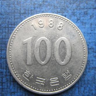 монета 100 вона Корея 1988