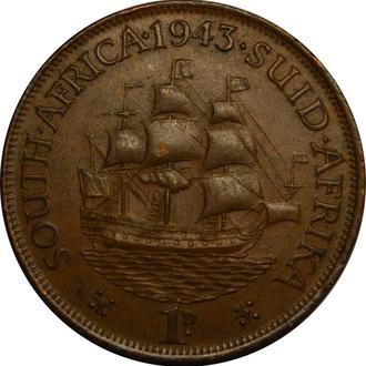 Південна Африка 1 пенні 1943  #90