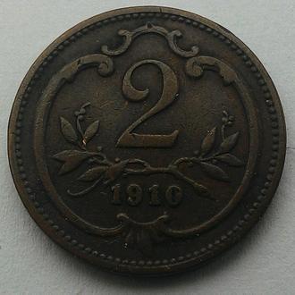 Австро-Угорщина 2 гелера 1910 год