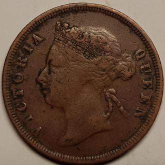 Стрейтс-Сетлментс 1 цент 1891 СОСТОЯНИЕ!