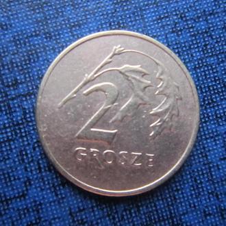 монета 2 гроша Польша 1992
