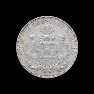 5 Марок 1904,(60) Вольный Город Гамбург