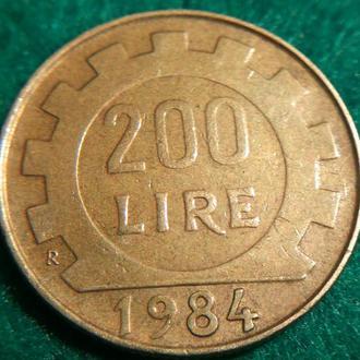 Италия 200 лир 1984