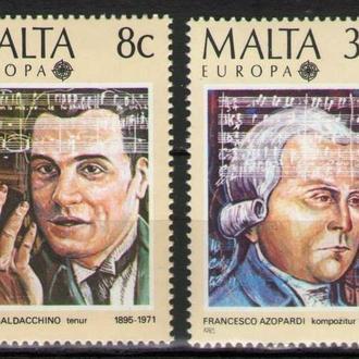 Мальта 1985 Европа EUROPA CEPT Музыка Композиторы серия MNH **