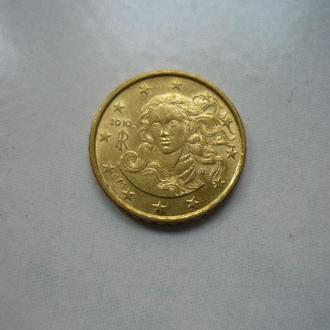 Италия 10 евроцентов 2010