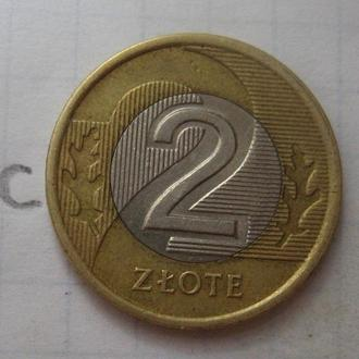 ПОЛЬША, 2 злотых 2005 года.