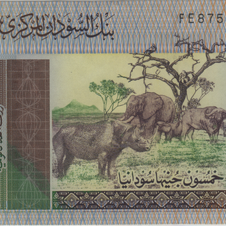 Судан 50 фунтов 2011 в UNC
