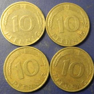 10 пфенінгів 1988 ФРН (всі монетні двори)