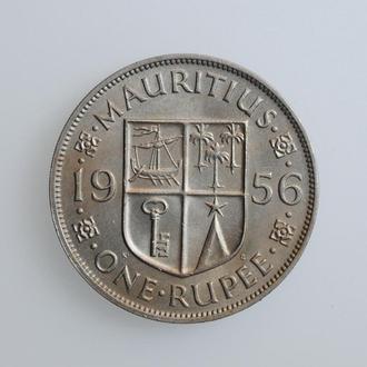 "Маврикий 1 рупия 1956 г., UNC, ""Королева Елизавета II (1953 - 1986)"""