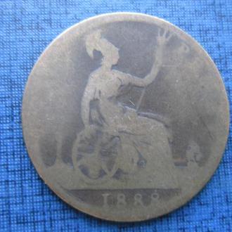 монета 1 пенни Великобритания 1888 Виктория