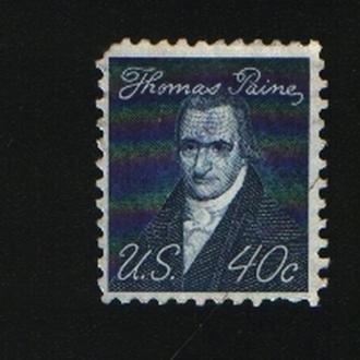 США. Выдающиеся американцы - Томас Пейн. 40 центов. Январь 1968