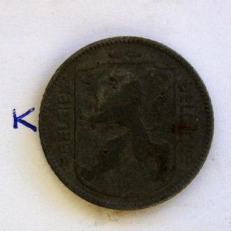 БЕЛЬГИЯ 1 франк 1943 г.