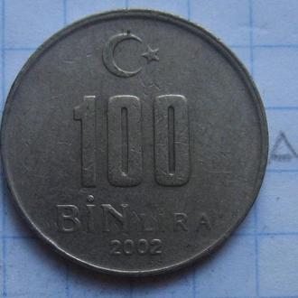 ТУРЦИЯ, 100.000 лир 2002 г.