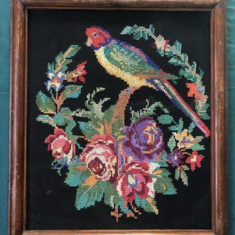 вишита картина попугай (№617)