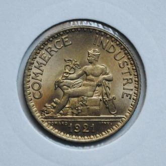 Франция 1 франк 1921 г., UNC, РЕДКОЕ СОСТОЯНИЕ