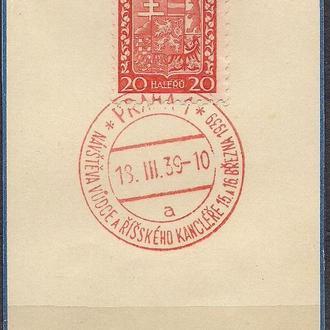 Рейх, 1939 г., спецгашение