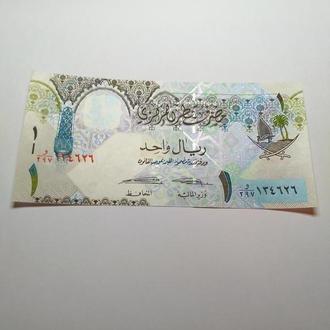 Катар, 1 риал пресс , unc, оригинал.