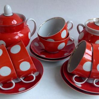 Сервиз чайный  Душевное чаепитие.  Фарфор. 14 предметов.