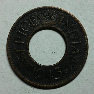 Индия 1 пайс 1943