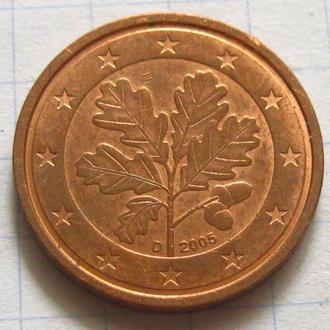 Германия_ 2 евро цента 2005 D оригинал