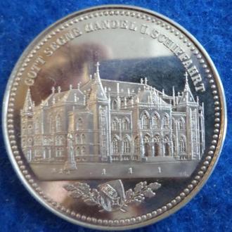 Германия Бремен биржевой талер 1864г.копия, В516