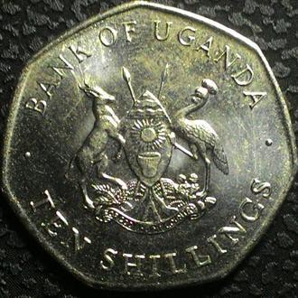 Уганда 10 шилингов 1987 г. UNC!! ,  ОТЛИЧНОЕ СОСТОЯНИЕ!!!
