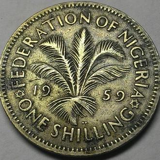 Нигерия 1 шиллинг 1959 год СОСТОЯНИЕ!