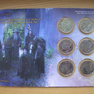 50 Центов 2003 9шт. Властелин Колец Буклет, Новая Зеландия