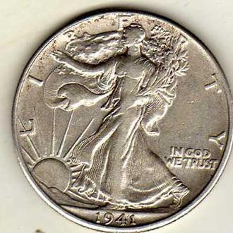 США 1\2 доллара 1941 D