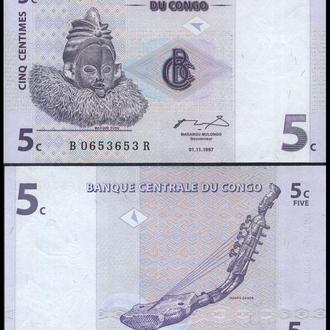 КОНГО 5 сантимов  1997г. UNC
