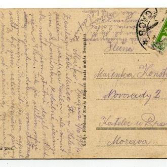 Поштівка Берегсас 1924 р.